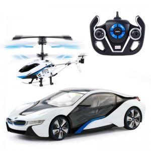 R/C Coffret 1:14 – BMW I8 & Hélicoptère – Rastar