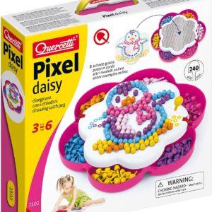 Quercetti-2102 Pixel Daisy-Jeu mosaique Enfant
