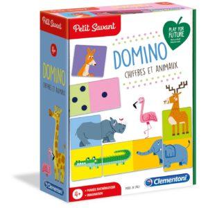 Petit savant -Domino Chiffres et Animaux- Clementoni